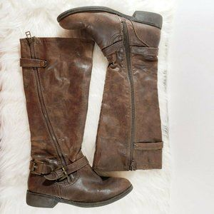 Mossimo Tall Riding Harness Boots Stone Size 8M